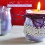 Comment faire des bougies parfumées colorées?