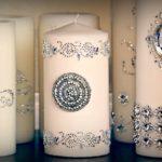 Bougies de mariage personnalisées