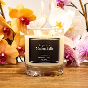 Les parfums de Mademoiselle Bougie Naturelle Bio Parfumée 240g - Senteur Fleur de Coton - Fait Main en France