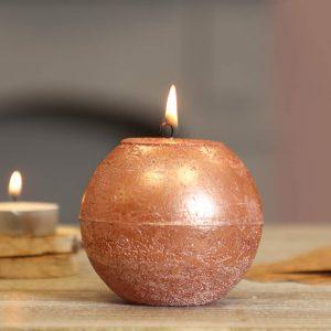Dibor - Lot de 2 Bougies de Luxe en cuivre 200 g de Luxe à Longue durée de Combustion