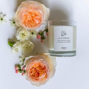 Bianca Paris, La Florale Bougie parfumée Naturelle au Jasmin - Cire de soja - Made in France