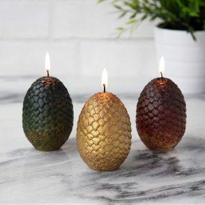 Game of Thrones - Set 3 bougies œufs de dragon