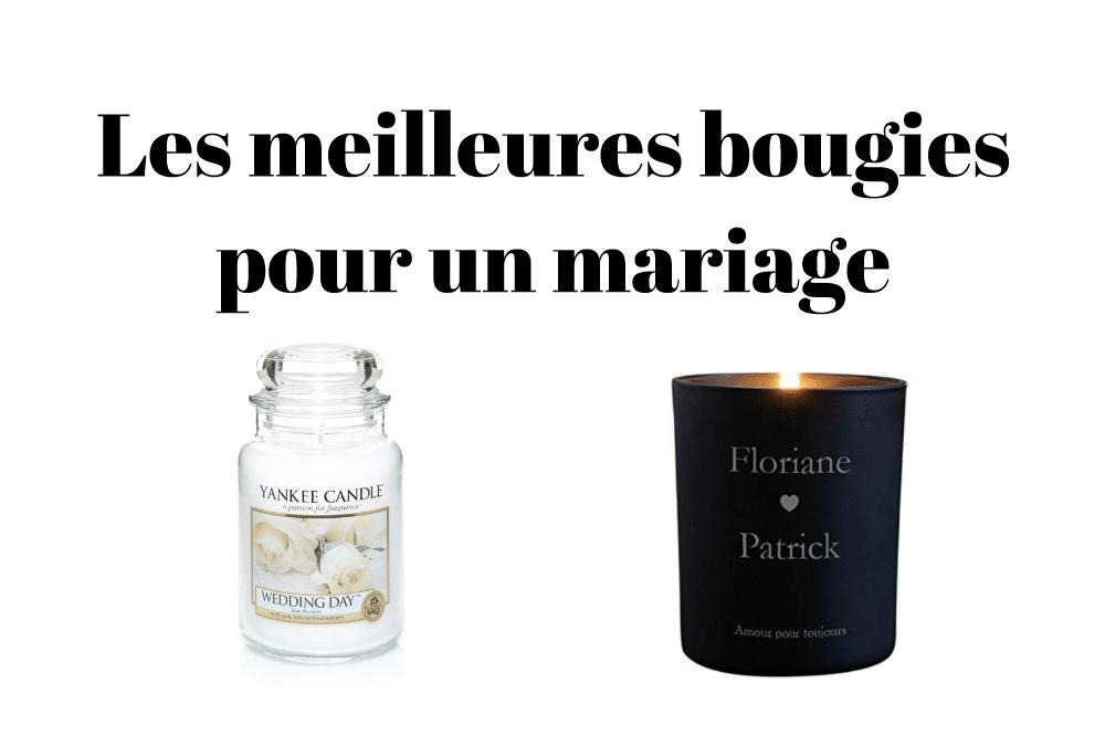 Les meilleures bougies pour un mariage